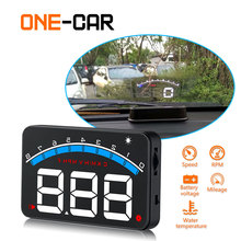 Car Head Up Display OBD2 3.5 Inch Projector Glass Vehicle Auto DigitalCar Driving Data Speed RPM Water Temperature HUD