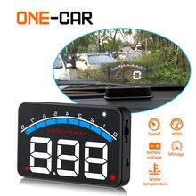Автомобиль Head Up Дисплей OBD2 3,5 дюймовый проектор Стекло автомобиля Авто DigitalCar вождения данных Дисплей Скорость об/мин Температура воды HUD