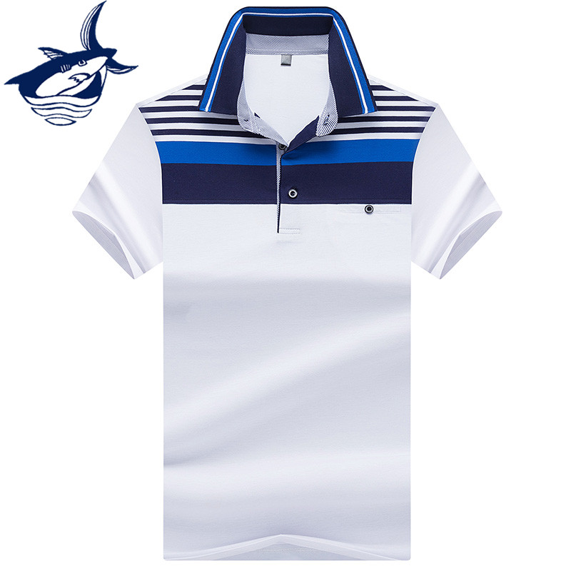 New Fashion & Casual Brand Tace Shark   polos   para hombre Breathable Striped Solid   Polo   Shirt Men Clothes 2018 Summer Tops