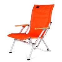 Кемпинг стул высокое Класс открытый складной Переносное пляжное кресло может нести 135 кг оранжевый черный мебель стул для рыбалки