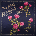 [LESIDA]90*90cm Square Scarf High Quality Print Rose And Letter Viscose Scarf For Women Soft Shawl Brand Hijab 9102