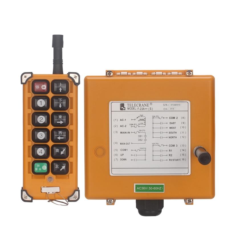 shthde AC 220V 380V 36V Industrial remote controller Hoist Crane Control Lift Crane 1 transmitter + 1 receiver цена в Москве и Питере