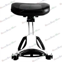 New Chrome Multi Purpose Adjustable Driver & Passenger Backrest For Harley Touring Road King 09 13
