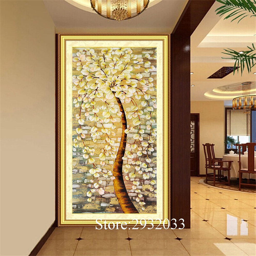 Abstract Tree Canvas Print Oil Painting Home Decoration Pachira ...