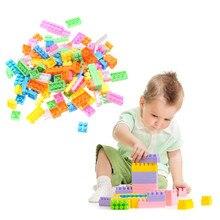 144 pcs Modelo de Construção Tijolos Blocos de Construção de Montagem de Plástico Colorido Crianças Educacionais Blocos DIY Tijolos de Brinquedo Caçoa o Presente