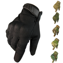 Men Breathable Full Finger Gloves Touch Screen Tactical Gloves Outdoor Sport Cycling Climbing Anti-skid Gloves стоимость