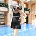 Черный Цвет Горячий Источник Купальники Беременная Мать One Piece Плюс Размер Купальники Пляжная Одежда Купальники
