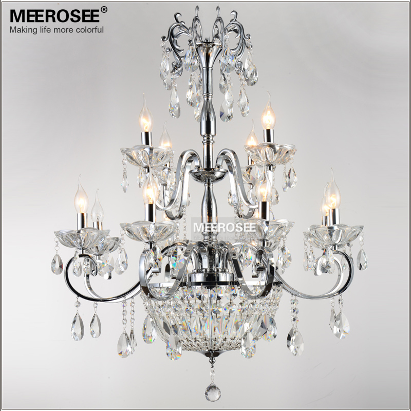 Wrought Iron Crystal Chandelier Light Fixture 2 tiers 12 E14 or E12 Lights Crystal Lustre Lamp Chandelier LightingWrought Iron Crystal Chandelier Light Fixture 2 tiers 12 E14 or E12 Lights Crystal Lustre Lamp Chandelier Lighting
