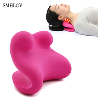 home adult cervical neck relax massage sleep pillow memory foam u shaped headrest therapeutic Health care nap pillow red black