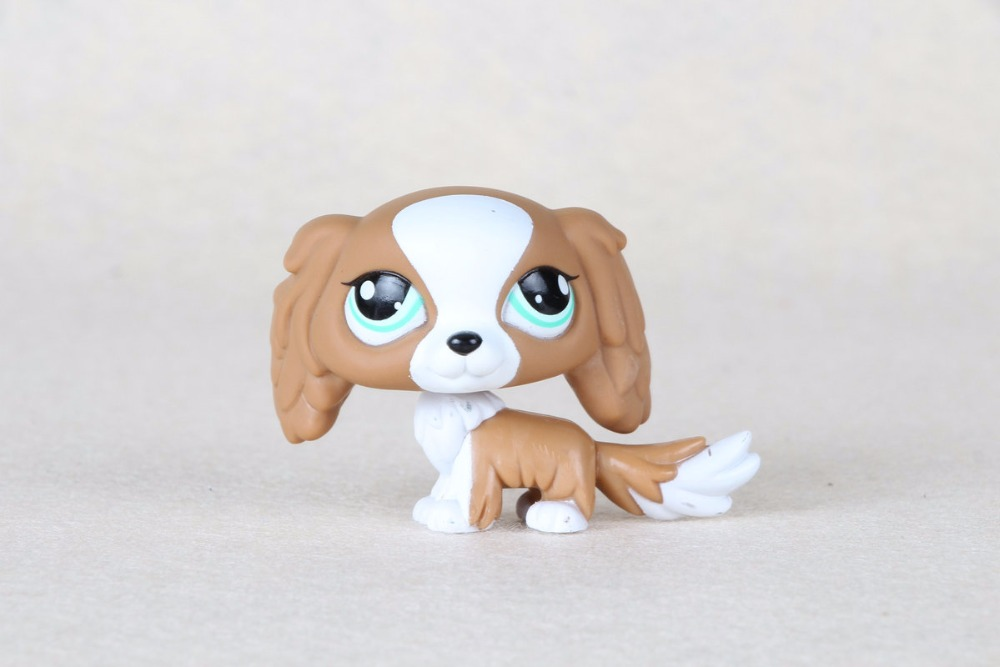 New pet Genuine Original LPS #1825 Brown & White Puppy King Charles Spaniel Dog Toys genuine pet shop 577 brown white