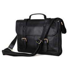 Shiny Vintage Leather Men's Laptop Bag Briefcase Messenger Bag handbag Purse # 7101A
