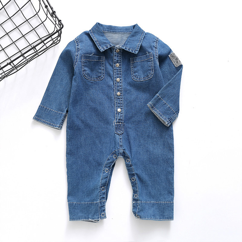 Autumn Baby kids Girls Roupas Bebe Clothing Boys Rompers Outwears Denim Jeans Infants Meninas Male Overalls Jumpsuits S5596 bork k8f1 k8f2