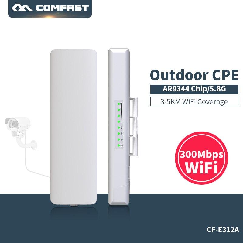 Comfast CF-E312A 3 KM CPE 5 Ghz 300 Mbps extérieure CPE Routeur Longue distance WIFI Signal Booster et Amplificateur sans fil transmission