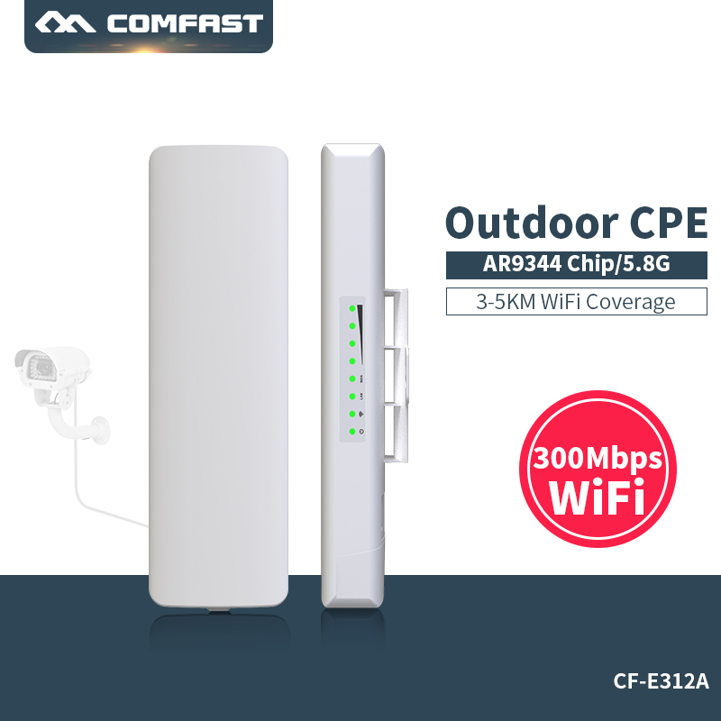Comfast CF-E312A 3KM CPE 5Ghz 300Mbps outdoor CPE Router Long distance WIFI Signal Booster & Amplifier wireless transmission 2 4ghz 300mbps outdoor cpe router long distance wifi router high power wifi signal booster