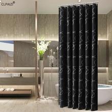 CLPAIZI Bathroom Accessories Bath Shower Curtain Black Polyester Waterproof and Mildewproof Size 72 x 80 D30