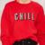 Hdy haoduoyi 2016 mujeres del otoño moda sólido de color rojo breve letras imprimir sudadera suelta de manga larga de cuello redondo jersey sudadera