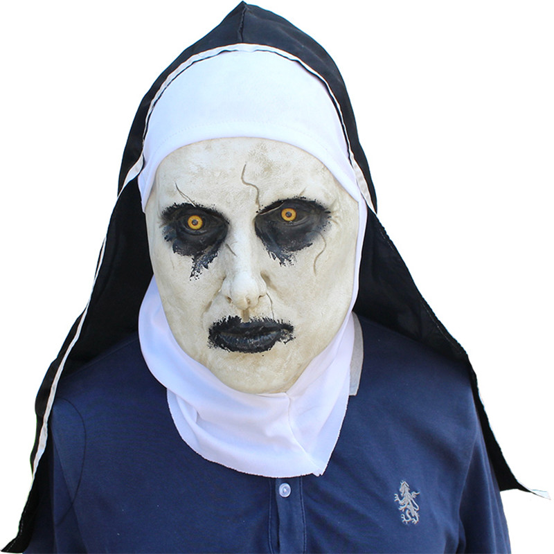 Roolina The Nun Valak Mask Deluxe Latex Scary Full Head Halloween Cosplay Costume Accessory члена