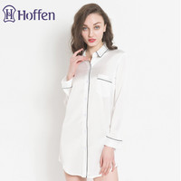 hoffen 2018 New Womens Solid Sexy Nightgowns Long Sleeve Satin Robes Sleepshirts Comfortable Boyfriend Mini Sleepwear WS368