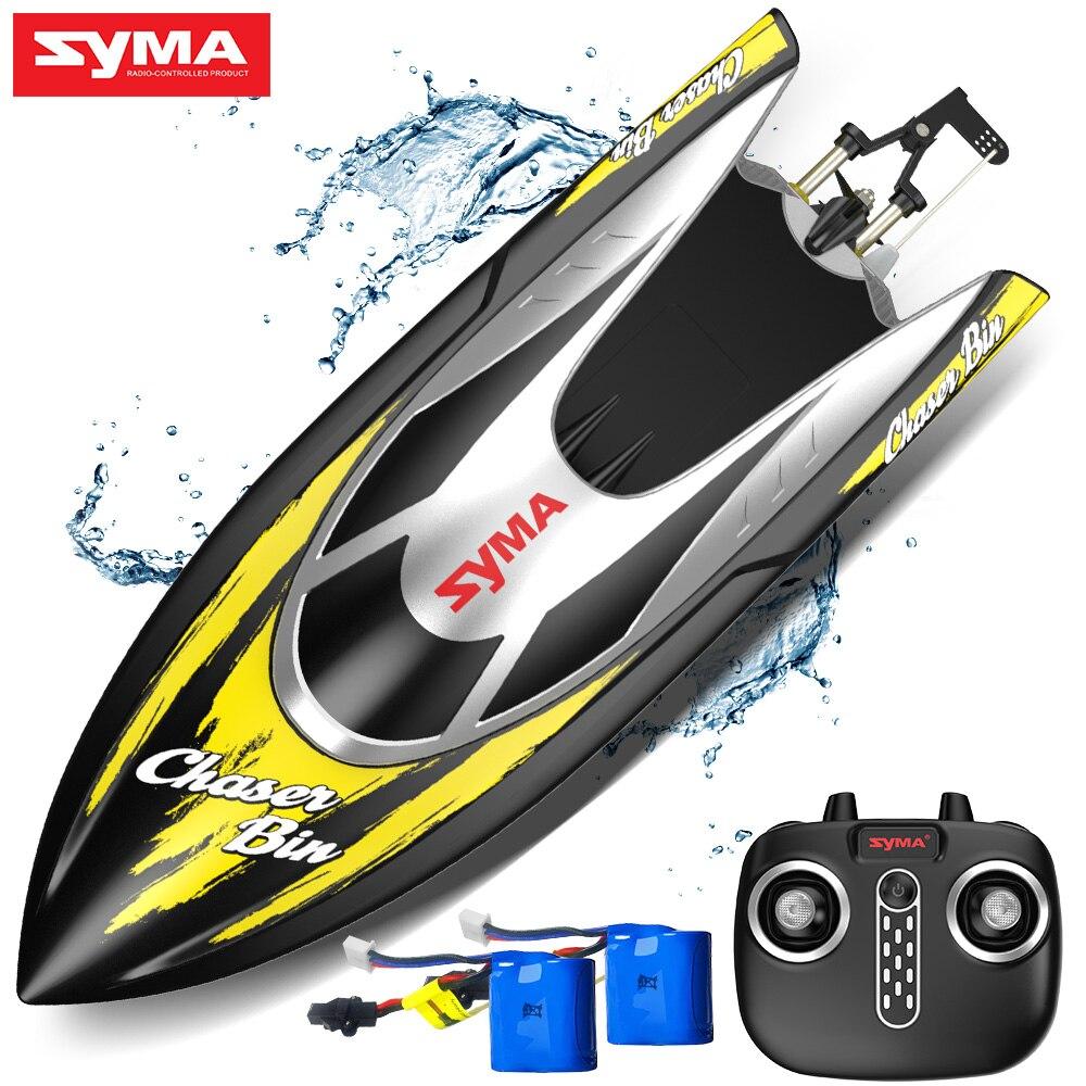 Syma Q7 course Rc bateau 4 canaux étanche RC bateau chavage récupération jouets drôles 2.4 Ghz à distance hors-bord rc pour enfants