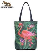 Auteuil Paris Women Casual Totes Big Capacity Handbag Ladies High Quality Shoulder Bag New Arrival Animal Prints Messenger Bags