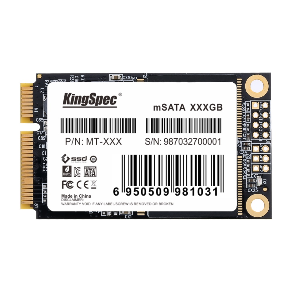 KingSpec SSD mSATA 120GB 240GB 512GB SATA3 Hard Drive Disk SSD Mini SATA Solid State Drive Module For Dell Lenovo Yogo laptop