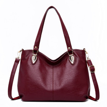 2018 fashion big tote bags for women's handbags solid zipper genuine leather shoulder bag female messenger bags sac main femme