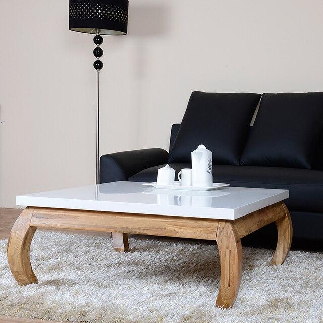 lenox nordic hout verf vierkante woonkamer koffietafel verf klein ...