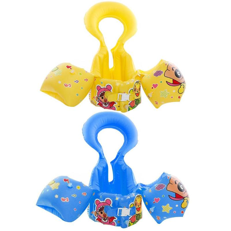 3 in 1 Cartoon Kids Childer Life Vest Inflatable Adjustable Arm Baby Ring Swimming Circle Pool Accessories Water Survival Safety