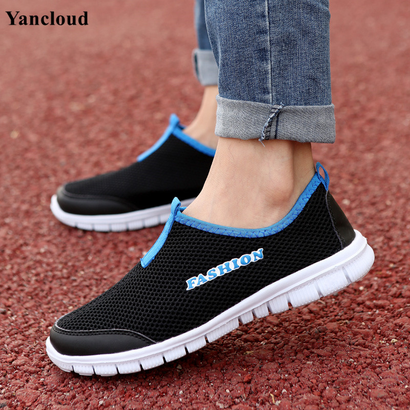 ФОТО New 2017 Spring Summer Size 35-44 Breathable Cutout Flats Shoes  Platform Loafers Men Casual Beach Outdoor Shoe