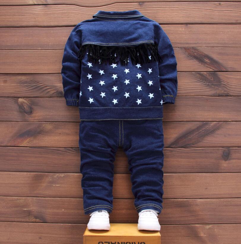 new 2018,baby boy clothes,children fashion clothing set,baby sport suit,boy denim 3 pcs set T-shirt+coat+pants set for kids 1-3T