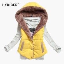 M-XXXL 2014 autumn winter plus size slim plus velvet vest thermal down cotton with a hood vest female all-match, free shipping