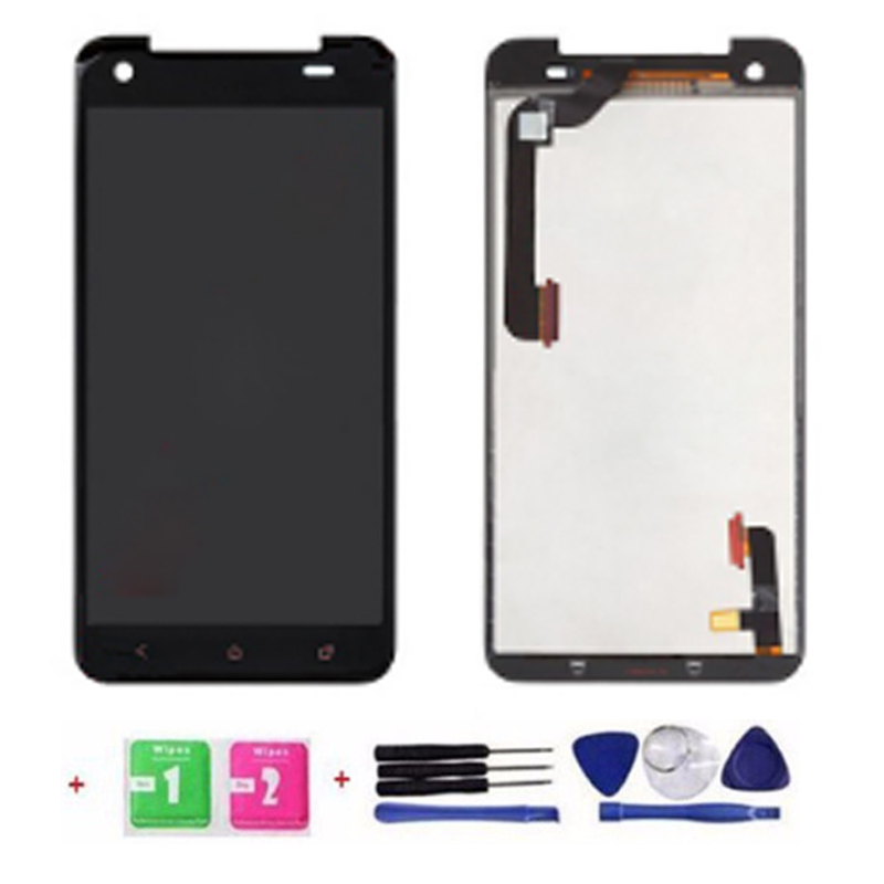 TOP Quality Full LCD Display Touch Screen Digitizer Assembly For HTC Droid DNA X920e Butterfly Replacement Part +Tempered Glass