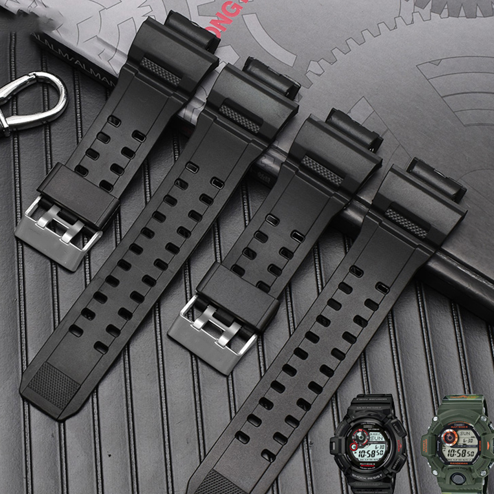 20MM Sports Diving Silicone Rubber Watchband Strap for Casio G-shock <font><b>GW</b></font>-<font><b>9400</b></font> Waterproof Accessories Man Metal Pin Clasp Fashion image