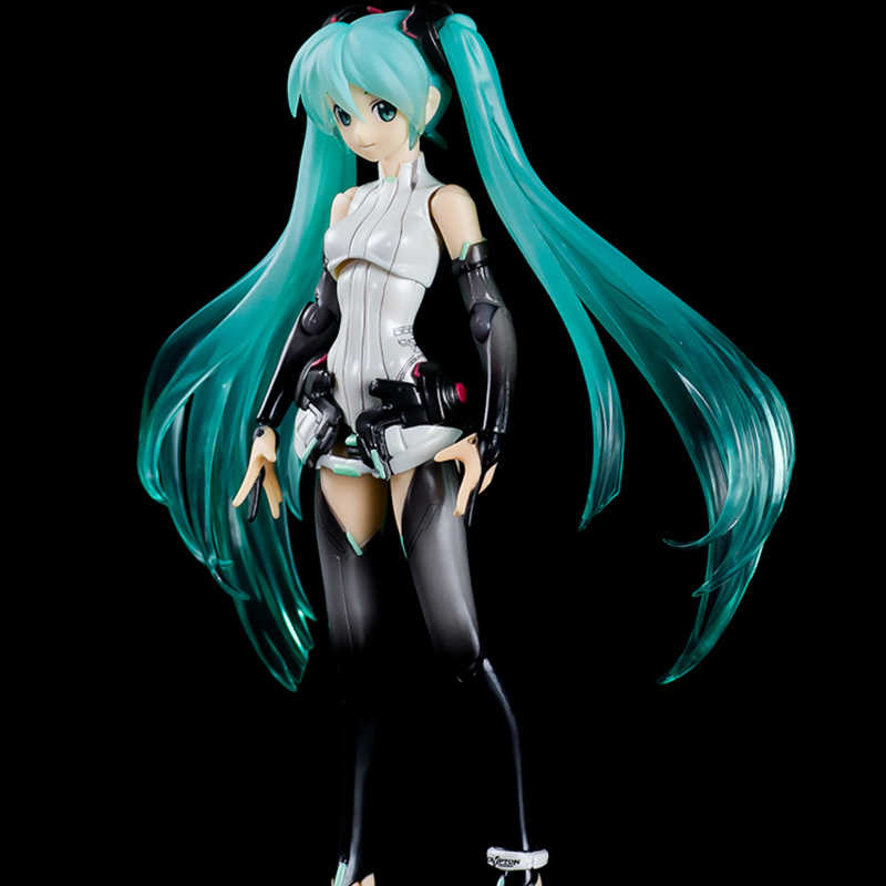 """Hot modelo Hatsune Miku Vocaloid Anime juguetes bonecas Figma 100 Figura de Ação DO PVC 14 CENTÍMETROS crianças brinquedos 6 """"Boneca caixa de presente original"""