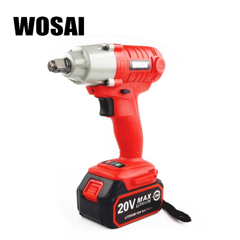 WOSAI 20 v Au Lithium Batterie Max Couple 280N. m 4.0Ah Sans Fil clé à Chocs Électrique Perceuse sans fil de qualité Industrielle