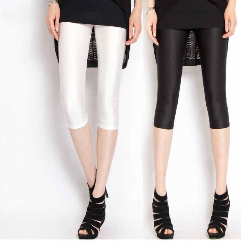 2018 Abgeschnitten Baumwolle Hosen Hohe Stretch Leggings 3/4 Jogginghose Knielangen Frauen Hosen Plus Größe Frauen Bleistift Hose Streetwear