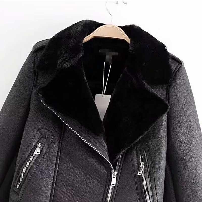 Chaud Épais Plume 2018 Plus Outwear Peluche De En Doux Pardessus Zipper Col Sash Manteau Taille Noir Veste La Faux Fourrure Court Femmes Hiver ZwSYZqxA