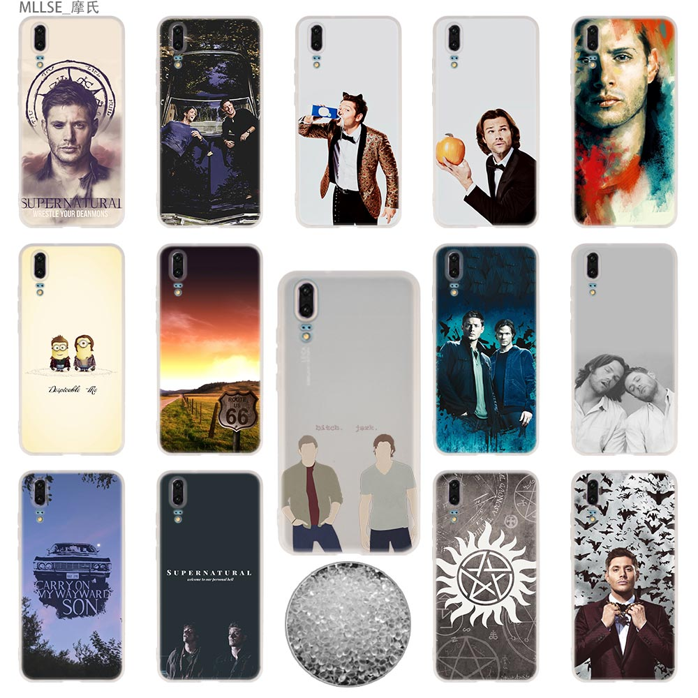Cover Telefoon Gevallen Zachte Voor Huawei P 20 Pro P10 Plus P9 P8 Lite 2017 P30 Pro Samrt 2019 Nova 3e Supernatural Spn Jensen Ackles