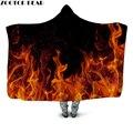 Женское мягкое одеяло с капюшоном Fiery  мягкое Флисовое одеяло с 3D принтом для взрослых  2019