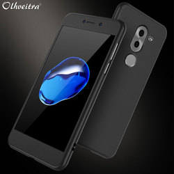360 Full Coverage For Huawei Honor 6X Case Huawei Mate 9 Lite Cover Plastic With Tempered Glass Film For Huawei GR5 2017 Case