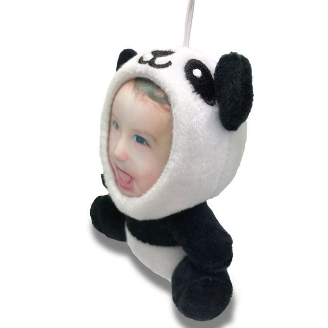 Online Shop Personalized Realistic 3d Photo Face Panda Stuffed