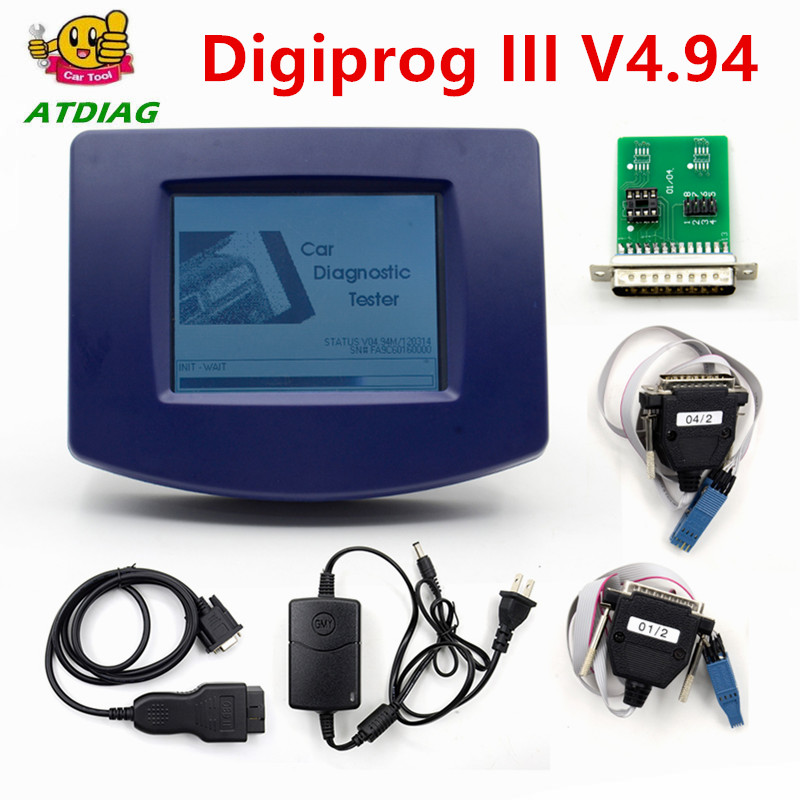 Digiprog III V4.94 Digiprog 3 FTDI Chip FT232BT A++ OBD2 ST01 ST04 cable odometer correction tool Digiprog3 Change mileage-in Electrical Testers & Test Leads from Automobiles & Motorcycles on