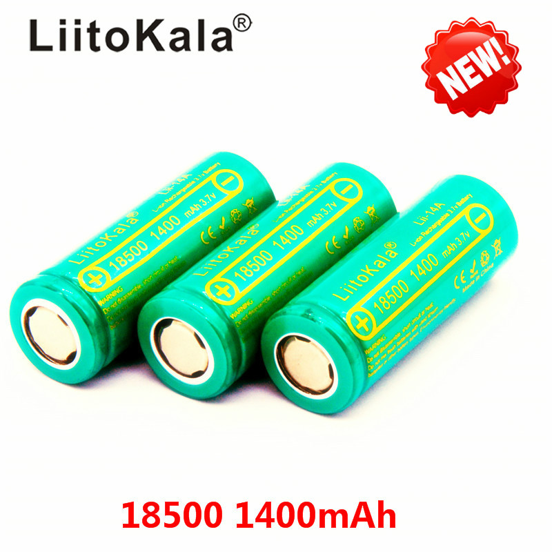 LiitoKala Lii-14A <font><b>18500</b></font> 1400 rechargeable <font><b>Battery</b></font> <font><b>18500</b></font> <font><b>battery</b></font> <font><b>3.7V</b></font> For lashlight Wholesale Safe <font><b>Li</b></font>-<font><b>Ion</b></font> image
