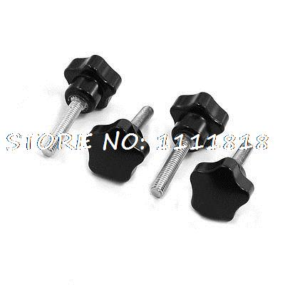 25mm Star Head Dia 6 x 25mm Male Thread Screw On Type Clamping Knob Black часы радо dia star