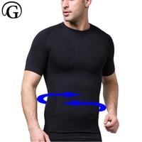 Men Body Shaper Quick Dry Compression Slim T Shirt Slimmer Underwear Tank Top Bodybuilding Vests Fitness