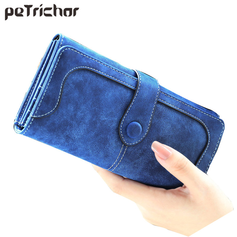 2016 Fashion Retro Matte Stitching Long Wallet Women Famous Brand Casual Hasp Leather Purse Clutch Lady Girl's Cash Card Handbag casual weaving design card holder handbag hasp wallet for women