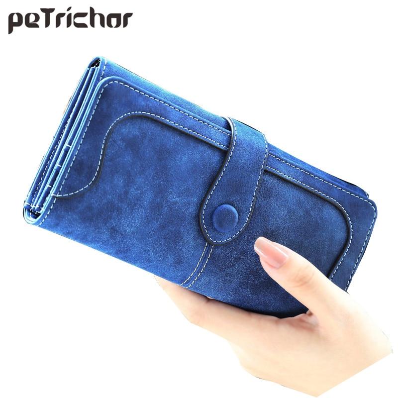 2018 Fashion Retro Matte Stitching Long Wallet Women Famous Brand Casual Hasp Leather Purse Clutch Lady Girl's Cash Card Handbag casual weaving design card holder handbag hasp wallet for women