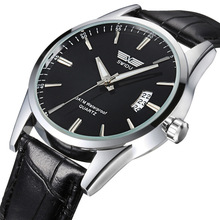 купить Fashion Men Watch Top Brand Luxury Leather Quartz Watch Gift For Man Casual Waterproof Sports Wrist Watch дешево