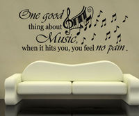 Music Piano Keyboard Wall Decal Quote One Good Vinyl Stickers Home Decor
