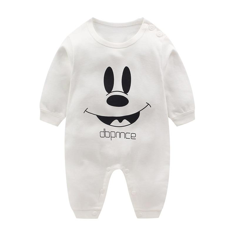 Brand Baby girls Romper pink Long Sleeves 100% Cotton Baby Pajamas Cartoon cute cat Newborn Baby Girls Boys Clothes